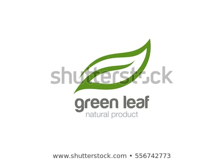 Bio logo, green leaves of a tree. The concept of ecologically pu Stock photo © popaukropa