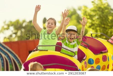 Gyerekek hullámvasút illusztráció lány fiatal park Stock fotó © adrenalina