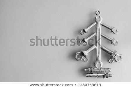 Metaal ideeën tekst geïsoleerd witte teken Stockfoto © bosphorus