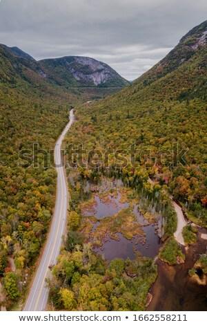platteland · vallei · landschap · stream · blauwe · hemel · afgelegen - stockfoto © rekemp