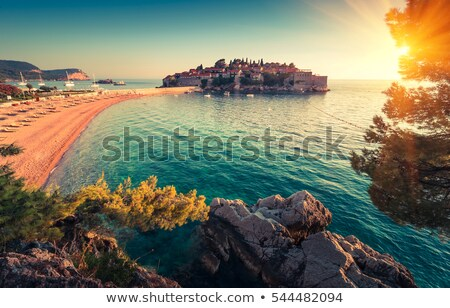 evening view of old town of budva montenegro balkans europe stock photo © maxpro