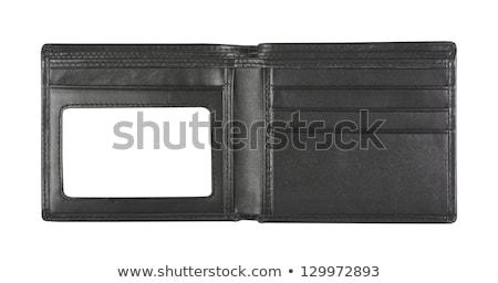 кредитные · карты · евро · черный · кожа · бумажник - Сток-фото © fuzzbones0