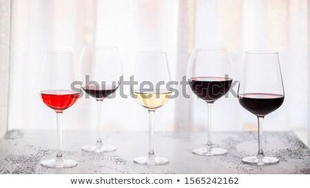 verre · vin · rouge · illustration · bol · plein - photo stock © netkov1