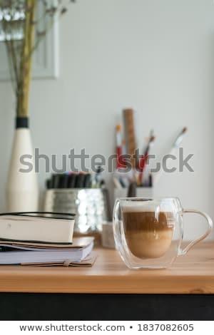 Graphic designer rustic tabletop workspace Stock photo © stevanovicigor