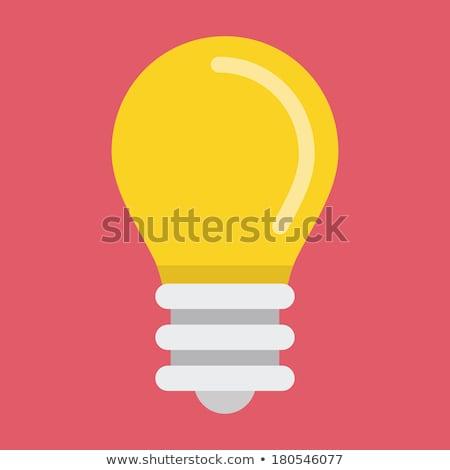 Bulb Yellow Vector Icon Button Stock photo © rizwanali3d