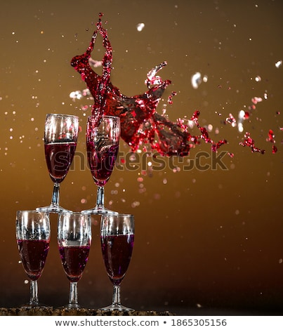 high glasses with water or wine stock photo © dariazu