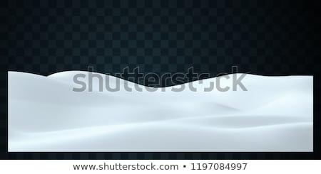 日没 · 空 · 冬 · 雪 · シーン - ストックフォト © vapi