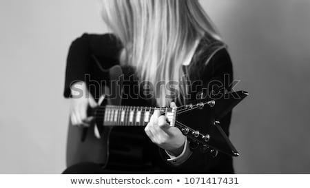 Művészet lövés lány portré gyönyörű lány fekete Stock fotó © bezikus