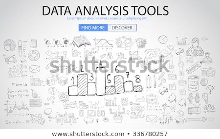 Data Analysis Tools with Doodle design style  Stock photo © DavidArts