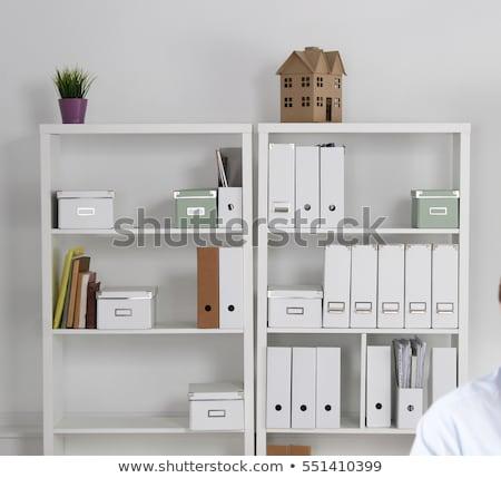 зале свет стен полу книгах моделях Сток-фото © bezikus