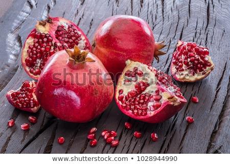 close up of pomegranate seeds stock photo © lana_m
