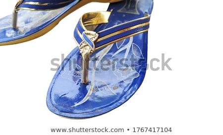 Pár sportcipők szürke fehér szín izolált Stock fotó © FrameAngel