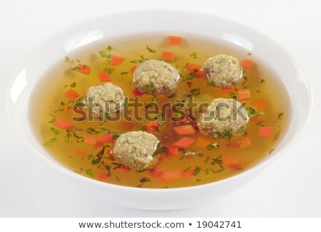 Bouillon with meat dumplings Stock photo © Digifoodstock