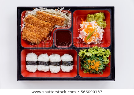 Pork cutlet with fresh vegetable sticks Stock photo © Digifoodstock