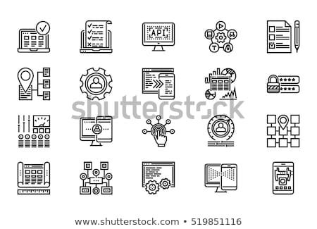 セキュリティ · ブリーフィング · アイコン · ビジネス · デザイン · 孤立した - ストックフォト © wad