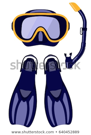 flippers and scuba mask in summer stock photo © adrenalina