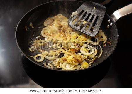 bisküvi · tava · sos · beyaz · plaka · gıda - stok fotoğraf © digifoodstock