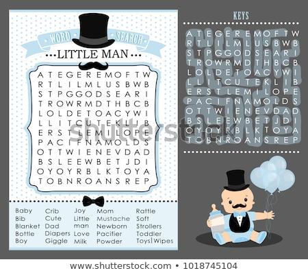Puzzle szó konzerv kirakó darabok üzlet háttér Stock fotó © fuzzbones0
