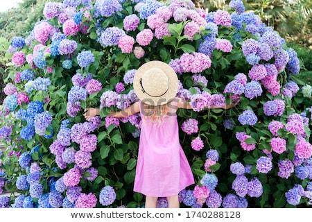 Kislányok fehér mosoly arc divat gyerekek Stock fotó © bluering