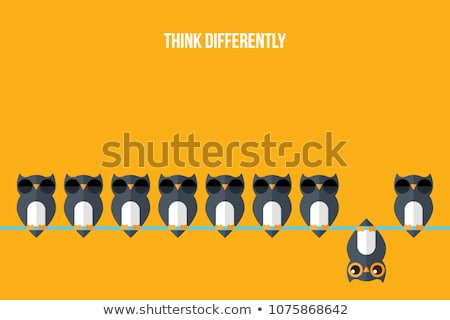 diferente · ilustración · fondo · negro · pensar · gráfico - foto stock © bluering