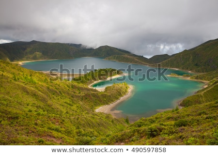 Caldera Lago di Fogo - lake on Azores Islands Stock photo © CaptureLight