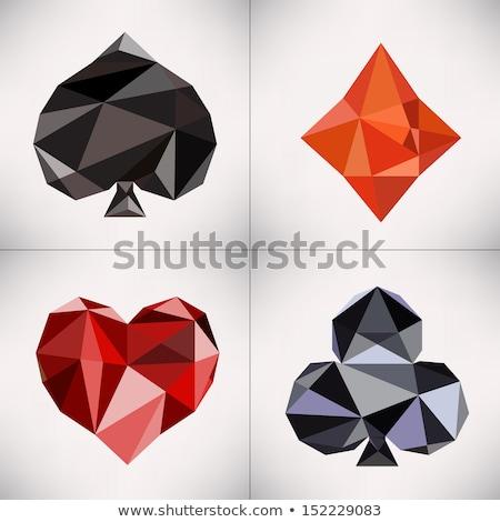 Diamond cross holidays card, vector illustration Stock photo © carodi