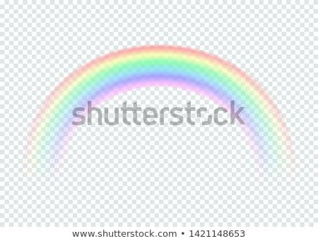 arco · iris · diferente · forma · realista · establecer · eps - foto stock © beholdereye