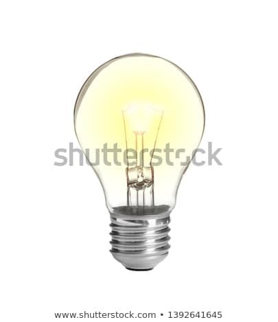 Stock photo: Lit light bulb