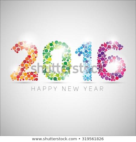 stylish happy new year 2016 colorful background Stock photo © SArts