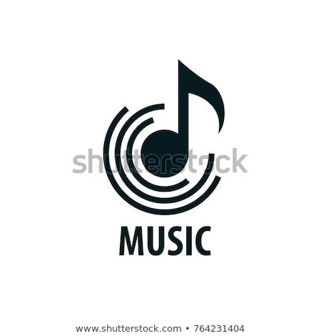 Zene jel ikon terv felirat háló Stock fotó © sdCrea