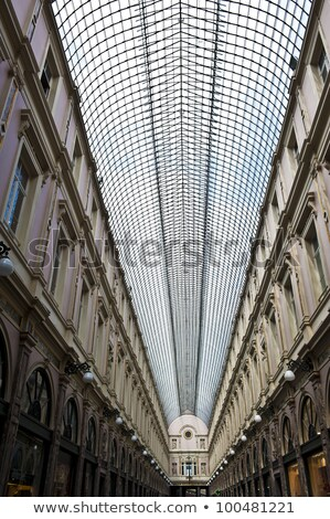 High ceilings of a Brussels shopping gallery. Stock photo © artjazz