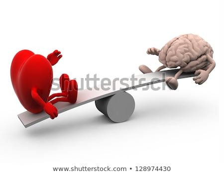 гнева красный мозг изолированный белый 3d иллюстрации Сток-фото © cherezoff