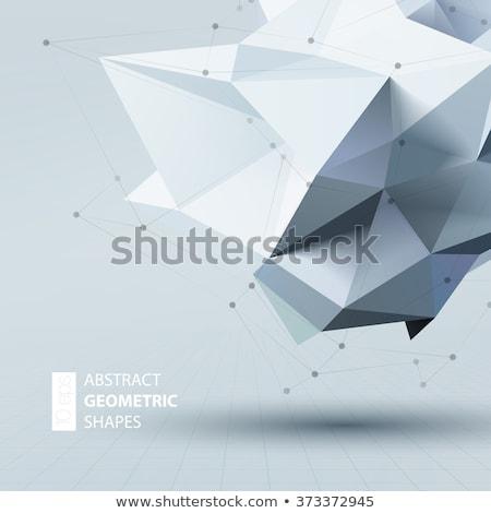 カラフル 3D ポリゴン 三角形 ストックフォト © SArts