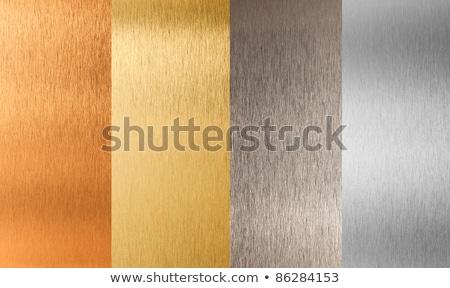 Aluminum, bronze and brass stitched textures Stock photo © kayros