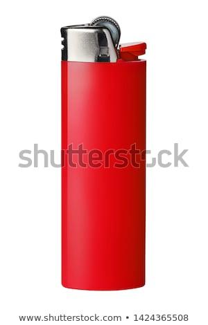 Usa e getta rosso accendino bianco fuoco metal Foto d'archivio © nemalo