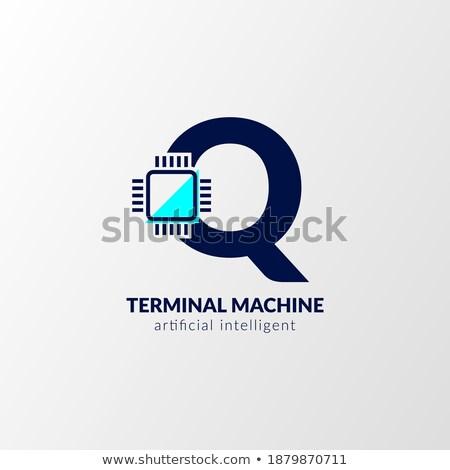 Gadget alfabet brief vrouw tablet vergadering Stockfoto © robuart