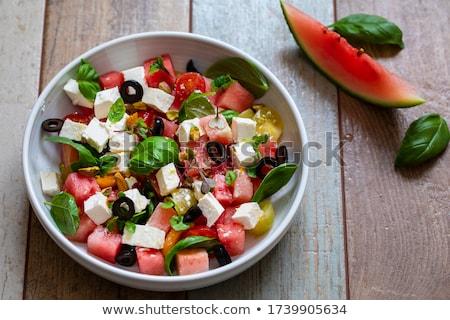 Kavun salata gıda yaz taze yemek Stok fotoğraf © M-studio