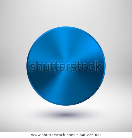 Blue Metal Circle Badge Stock photo © molaruso