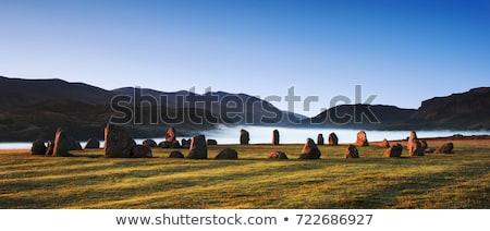 石 サークル 表示 英語 湖水地方 ストックフォト © peterguess