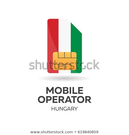 Hungary mobile operator. SIM card with flag. Vector illustration. Stock photo © Leo_Edition