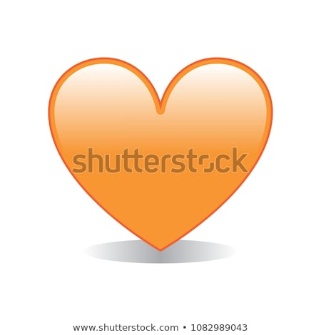 Сток-фото: оранжевый · любви · счастливым · улыбка · изолированный · вектора