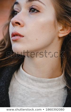 少女 コート ポーズ 建物 美しい 若い女の子 ストックフォト © tekso
