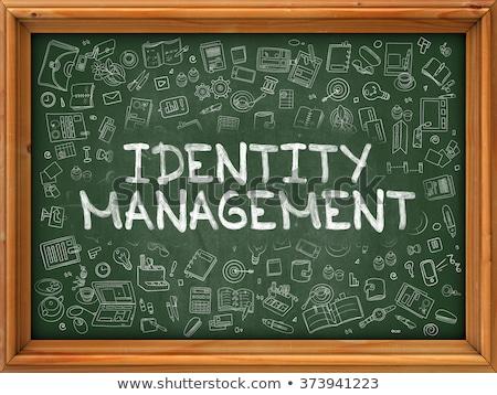 Identité gestion dessinés à la main vert tableau doodle Photo stock © tashatuvango
