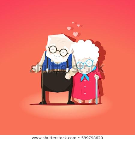 Dziadkowie dzień babcia dziadek dojrzały para Zdjęcia stock © popaukropa