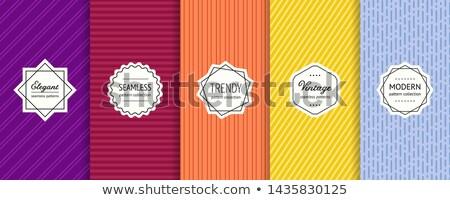 En az hatları dikey afişler vektör arka plan Stok fotoğraf © SArts