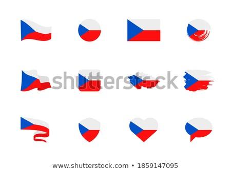 mapa · europa · República · Checa · tcheco · bandeira · isolado - foto stock © amplion