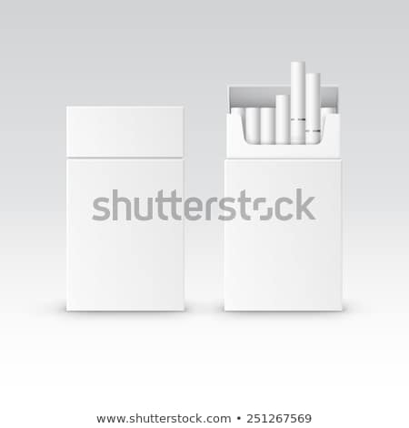 blank pack package box of cigarettes stock photo © pikepicture