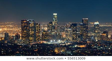 Los Angeles duży rozmiar sylwetka Zdjęcia stock © tony4urban