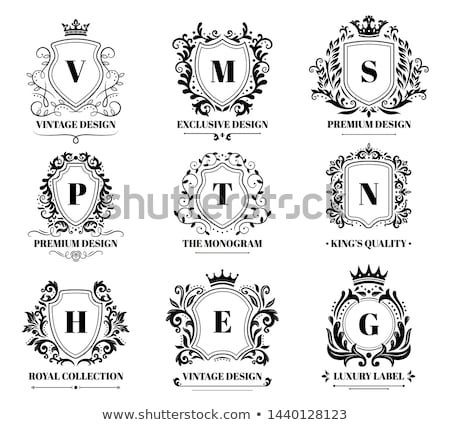 knight heraldic crest coat of arms shield emblem stock photo © krisdog