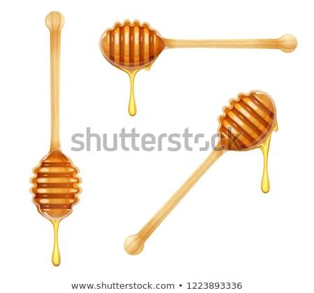 miele · isolato · jar · piccolo · a · nido · d'ape - foto d'archivio © hitdelight